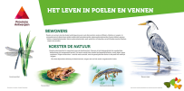 Interpretation panel for nature reserve in Province of Antwerp